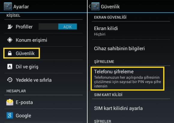 Android Telefonlarda Veriler Silinmeden Format Atma