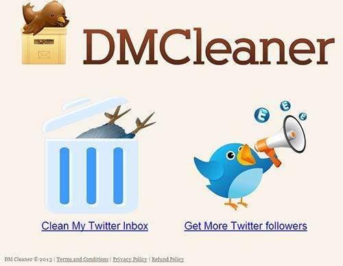 2. dmcleaner.com sitesi üzerinden mesajları toplu olarak silmek