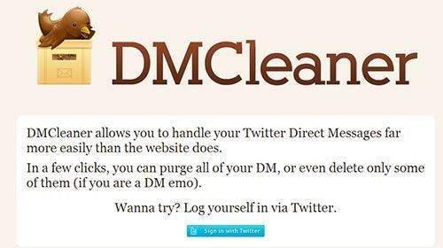 2. dmcleaner.com sitesi üzerinden mesajları toplu olarak silmek2