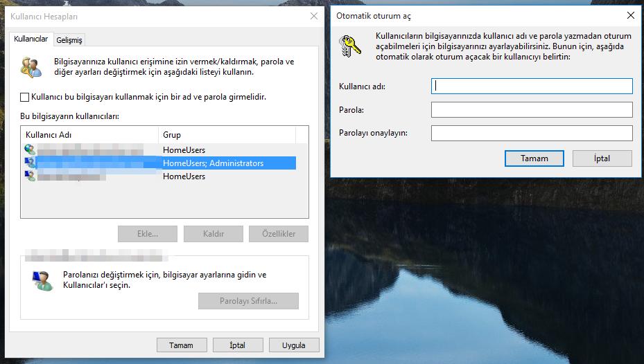 Windows 10'da Giriş Şifresi Kaldırma -5