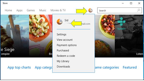 Windows 10'da Farklı Bir Hesap ile Store'a Kaydolmak-1