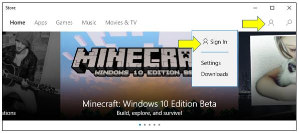 Windows 10'da Farklı Bir Hesap ile Store'a Kaydolmak-3