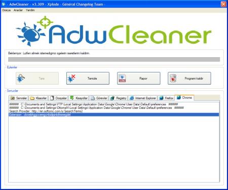 Ana Sayfa Virüsü Kaldırma Adwcleaner - 2