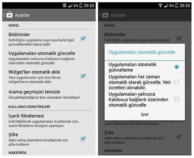 Android Cihazlarda Mobil Internet Üzerinden Otomatik Uygulama Güncelleme Nasıl Kapatılır-3