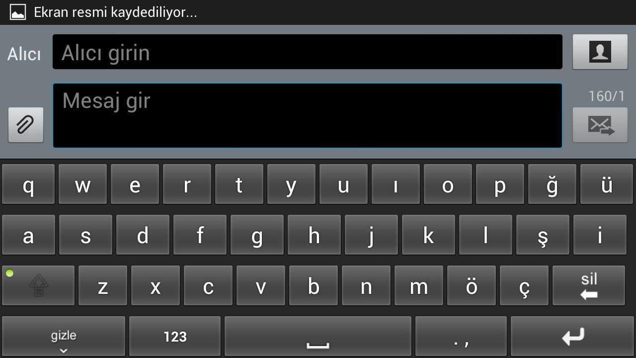 Android klavye sesi kapatmak