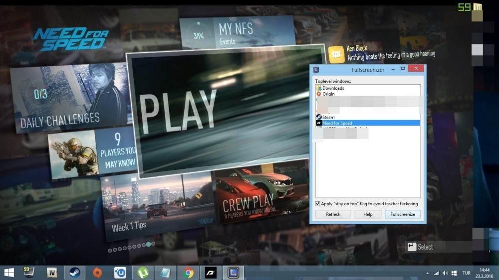 Need for Speed Tam Ekran Nasıl Yapılır-2
