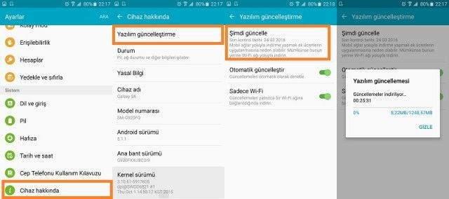 Samsung Galaxy S6 Marshmallow Güncellemesi Yapma-1