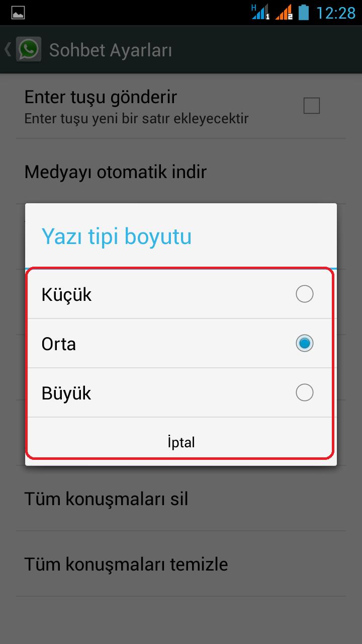 WhatsApp'ta Yazı Boyutunu Nasıl Değiştirilir-3