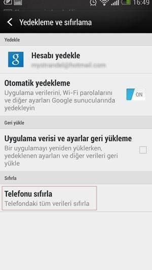 Android Telefon veya Tableti Fabrika Ayarlarına Döndürme-5