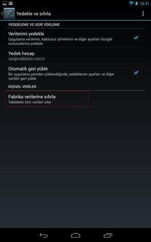 Android Telefon veya Tableti Fabrika Ayarlarına Döndürme-6
