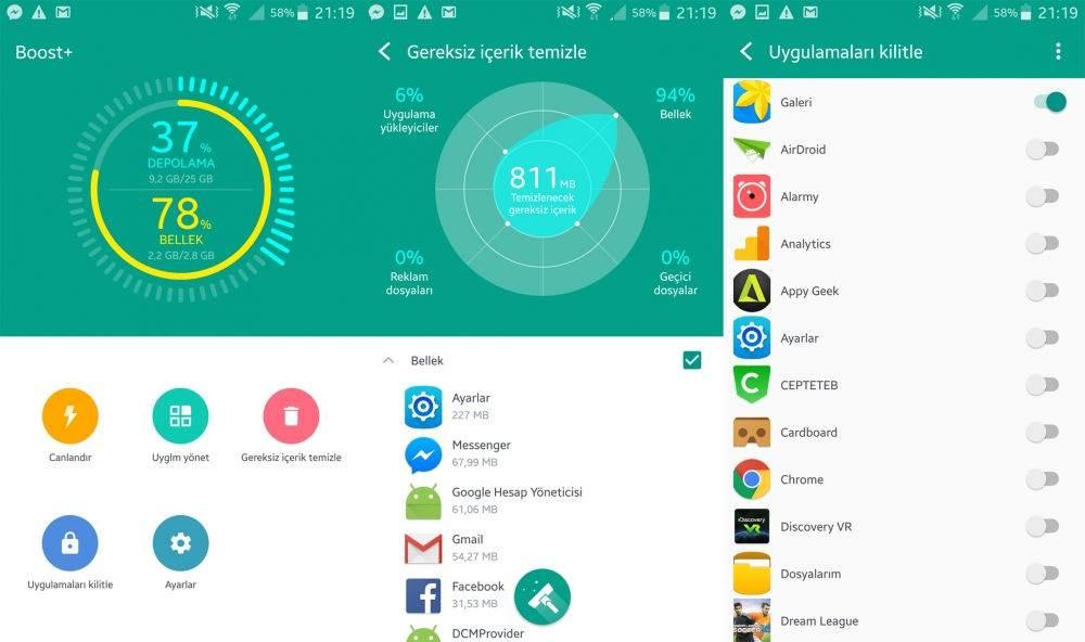 Android Telefonu Hızlandırmak için En İyi Uygulamalar-HTC Boost+