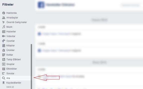 Facebook Arama Geçmişi Nasıl Silinir3