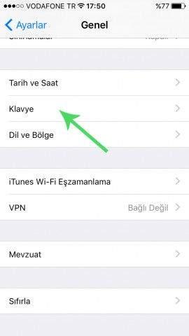 iOS 9'da Klavye Karakter Önizlemesi Nasıl Kapatılır-1