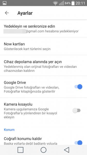 Android Cihazdaki Fotoğrafların Google Fotoğraflar İle Yedeklenmesi-2