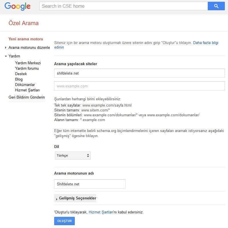 Google Özel Arama Kullanımı 1