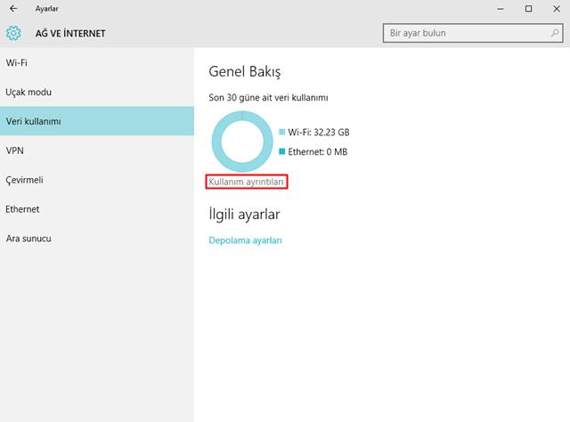 Windows 10'da yüklü uygulamaların veri tüketimleri nasıl öğrenilir-3