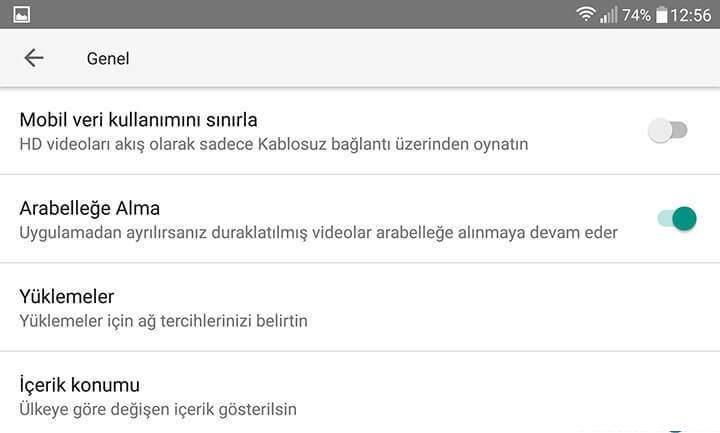 Youtube için Mobil Veri Kullanımı Sınırlaması Nasıl Yapılır-5