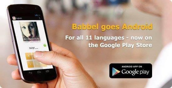 Android için Dil Uygulamaları-Babbel