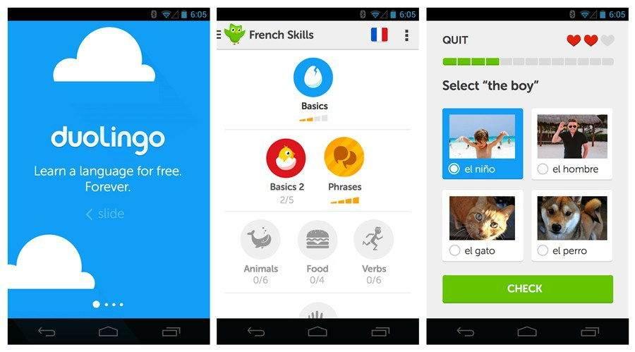 Android için Dil Uygulamaları-Duolingo