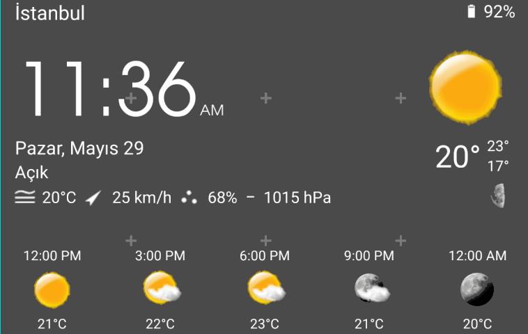 Android'de Ekrana Hava Durumu Ekleme