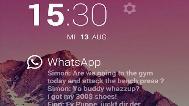 DashClock Telefonunuzun Kilidini Açmadan Mesajlarınızı Okuyun