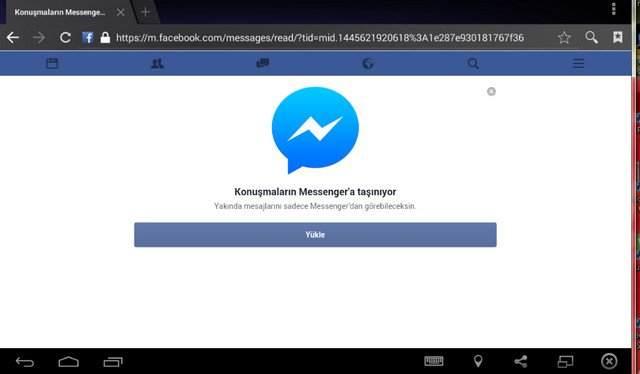 Facebook Messenger'ı Yüklemeden Kullanma1