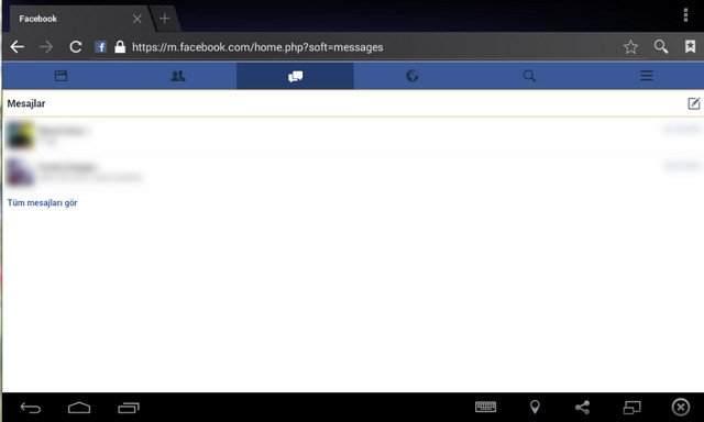 Facebook Messenger'ı Yüklemeden Kullanma3