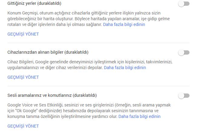 Google'daki Sesli Aramalarınızın Kayıtları Nasıl Silinir2