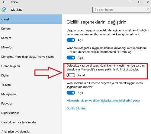 Windows 10 Keylogger Nasıl Devredışı Bırakılır1