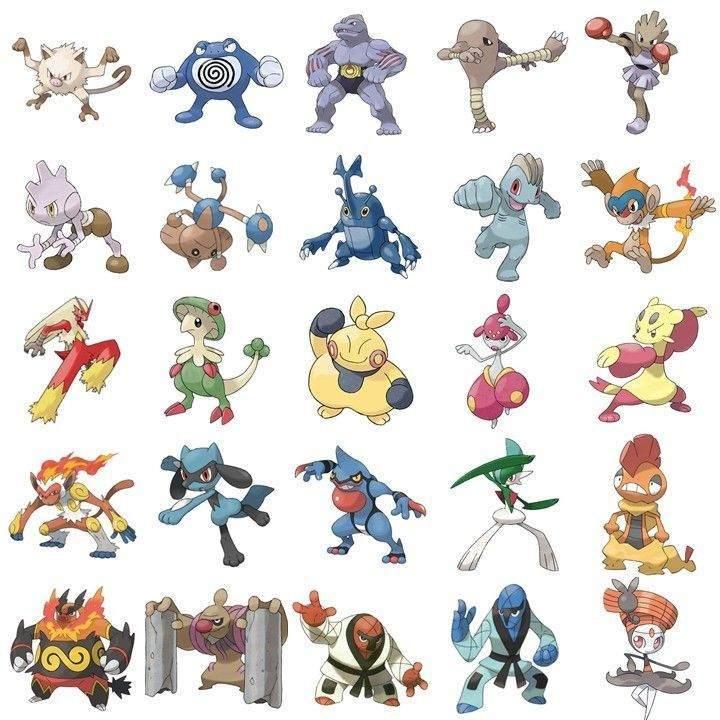 Dövüş tipi Pokemonlar