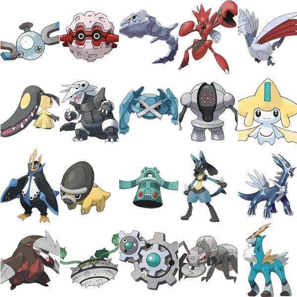 Metal Türü Pokemonlar ve Savaşları