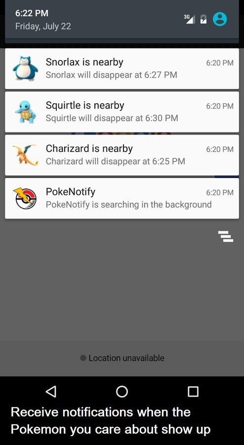 Pokemon Bildirim Uygulaması3