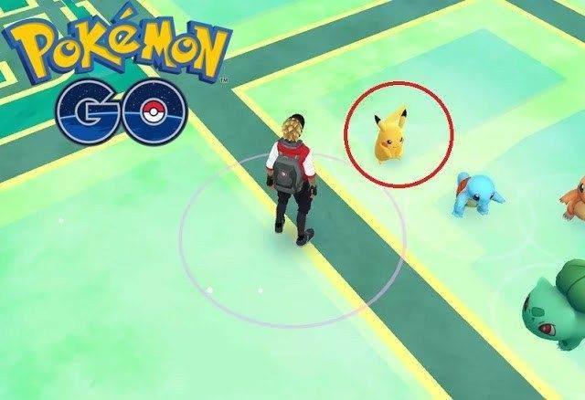 Pokemon GO'da Pikachu Yakalama1