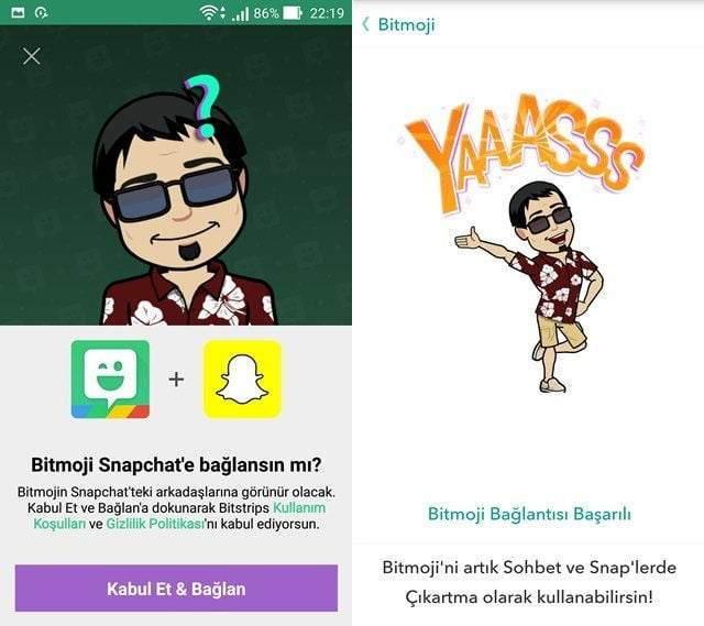 Bitmoji Snapchat'te Nasıl Kullanılır ?