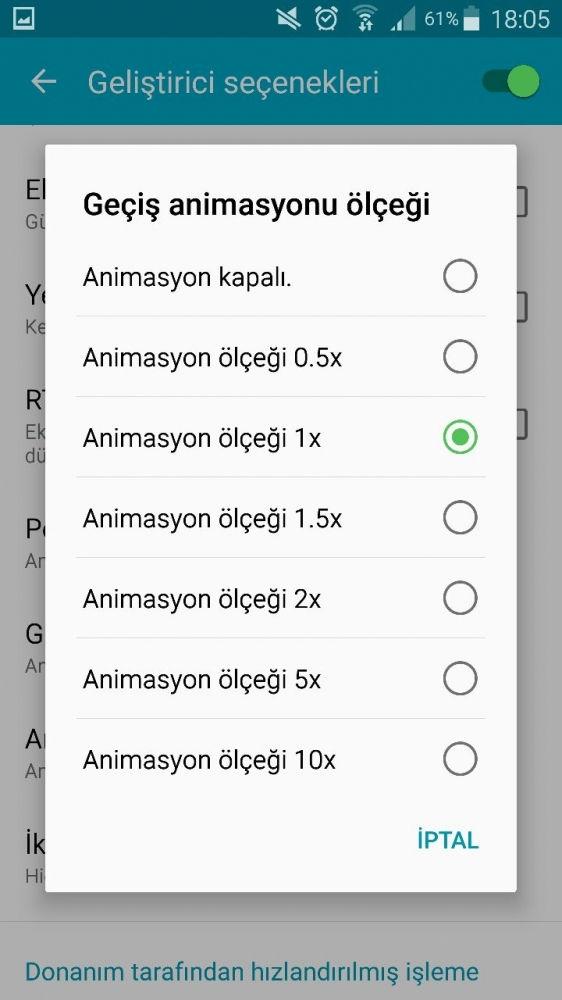 Android Cihazları Hızlandırmak için Animasyonları Kapatma2