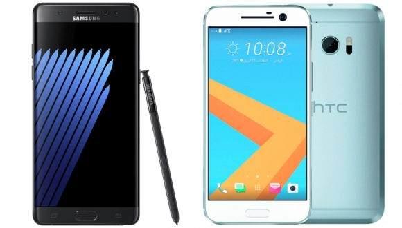 Galaxy Note 7 ile HTC 10 Karşılaştırması