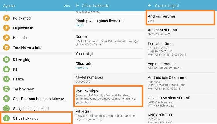 Telefonun Android Sürümünü Öğrenme1