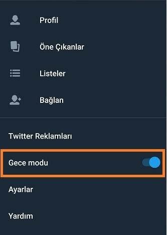 Twitter Gece Modu Nasıl Kullanılır1