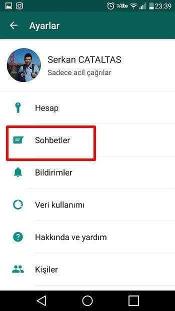 Whatsapp Sohbet Yedeği Alma1