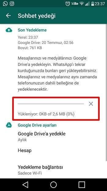 Whatsapp Sohbet Yedeği Alma3