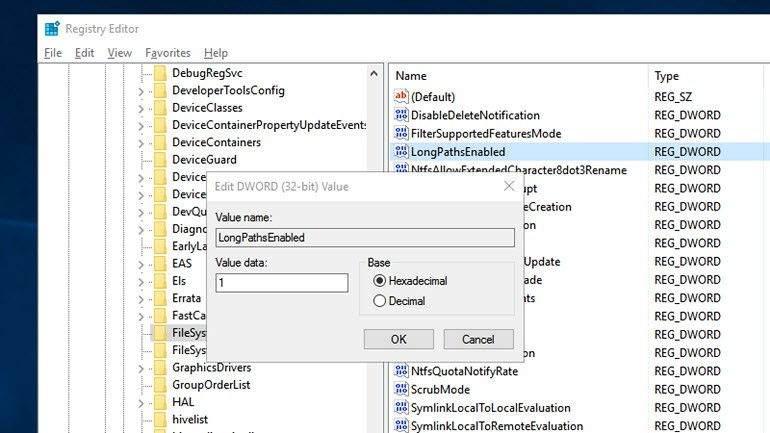 Windows 10 260 Kısıtlamasını Kaldırma2