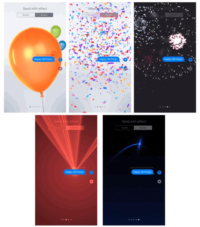 iOS 10'da Animasyonlu Mesaj Gönderme2