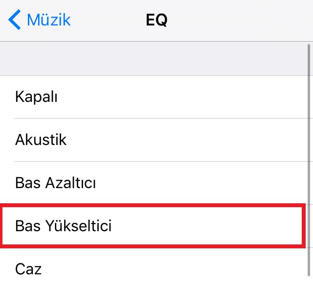 iPhone Bas Yükseltici