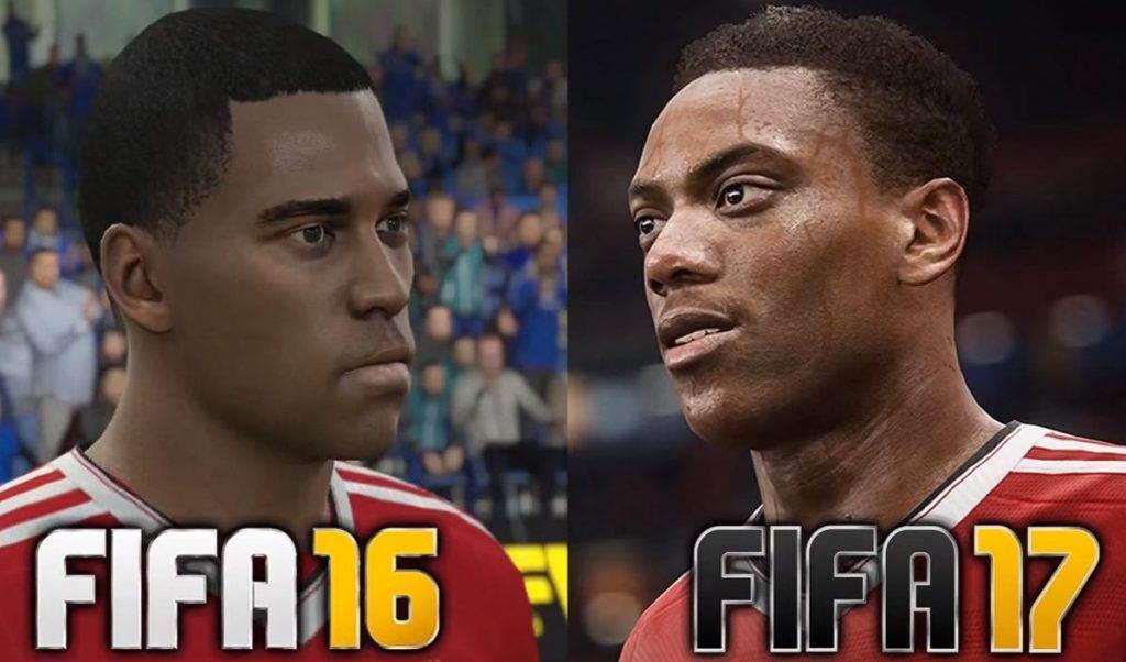 FIFA 16 ve FIFA 17 Grafik Karşılaştırması