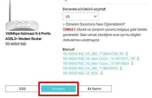 Tp-Link Modem Firmware Güncelleme İşlemi