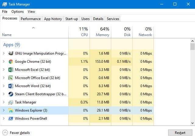 Windows 10 Görev Çubuğunu Onarma