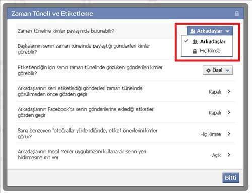 Facebook 'ta İstenmeyen Etiketlenmeleri Kapatma