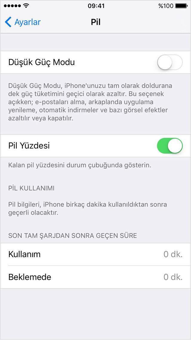 iPhone Pil Şarj Durumunu Yüzde Olarak Gösterme