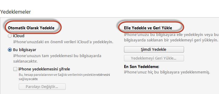iphone-yedekleme1 iPhone Nasıl Sıfırlanır, Fabrika Ayarlarına Nasıl Döndürülür?