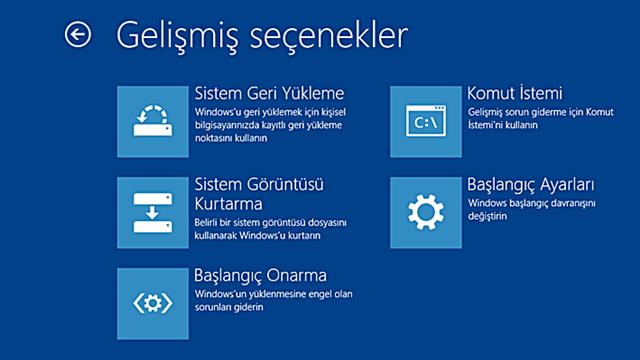 windows sistem görüntüsü